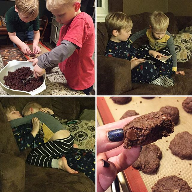 making chocolate cookies; Our favorite cookies and cookbooks for meal planning! | Paleo Parents Weekend Wrap Up
