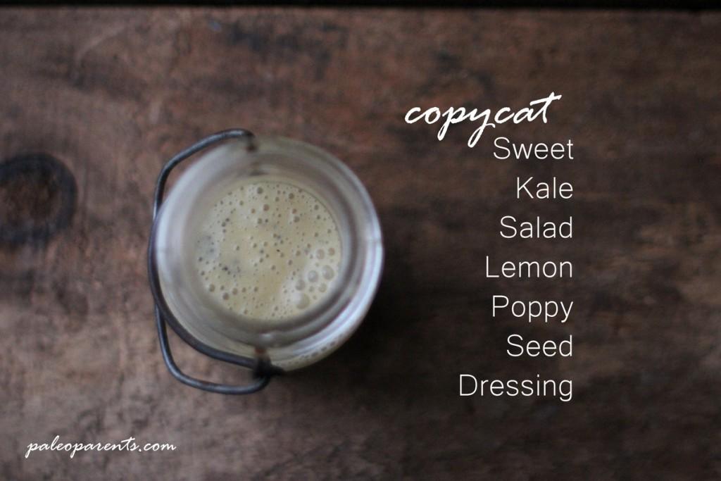 Copycat Sweet Kale Salad Lemon Poppy Seed Dressing