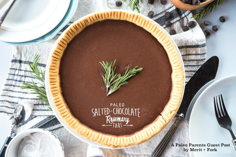 Guest Post: Salted-Chocolate Rosemary Tart, Merit + Fork