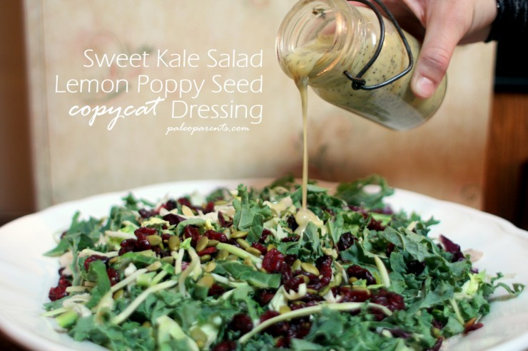 Sweet-Kale-Salad-Lemon-Poppy-Seed-Copycat-Dressing-by-Paleo-Parents, Paleo MAYO is Healthy! Our favorite brand + favorite recipes using mayonnaise | Paleo Parents