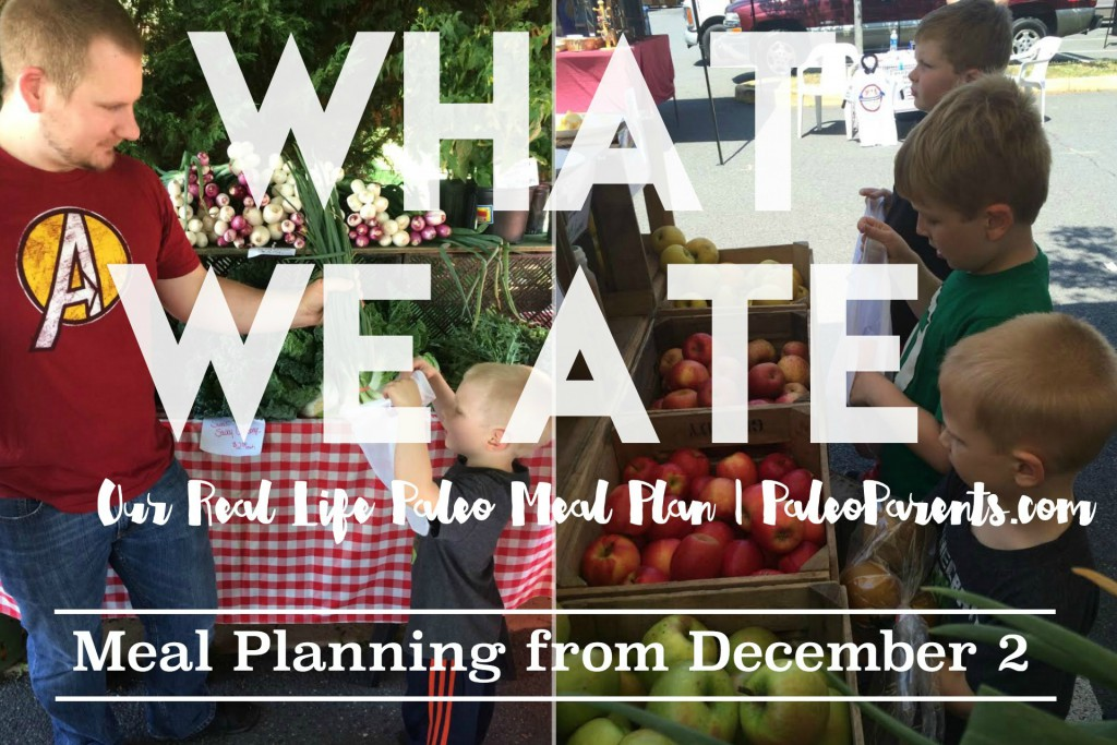 Real Life Paleo Meal Planning: What We Ate Wednesday, December 2