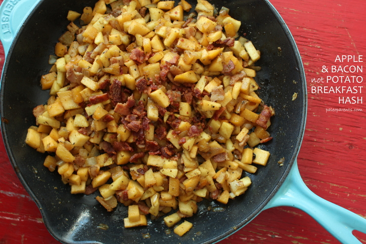 Apple Bacon not Potato Breakfast Hash by PaleoParents, Real Life Meal Planning: What We Ate Wednesday February 3