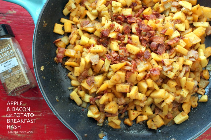 Apple Bacon not Potato Breakfast Hash made with Primal Palate AIP blend on PaleoParents