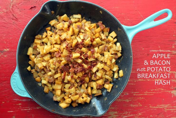 Apple Bacon not Potato Breakfast Hash on PaleoParents