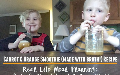 Broth Smoothie Recipe + Real Life Meal Planning: What We Ate Wednesday January 20