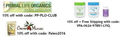 Paleo discounts coupon codes Feb 2016
