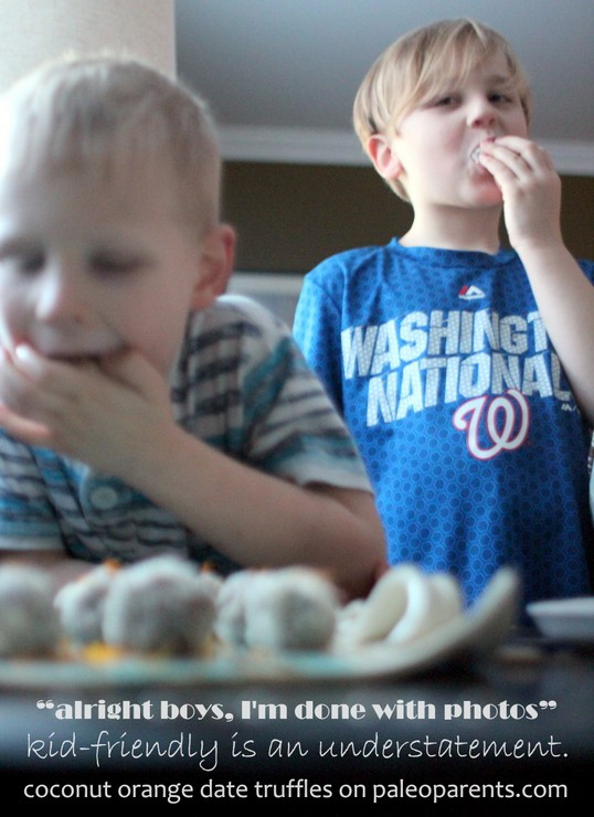 Kid-Friendly Orange Coconut Date Truffles on Paleo Parents
