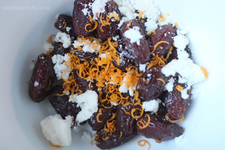 Orange Coconut Date Truffle Ingredients on Paleo Parents