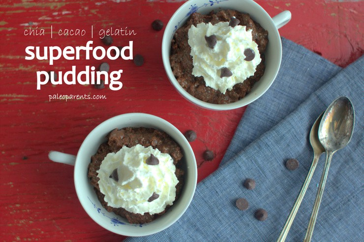 Superfood Pudding on PaleoParents