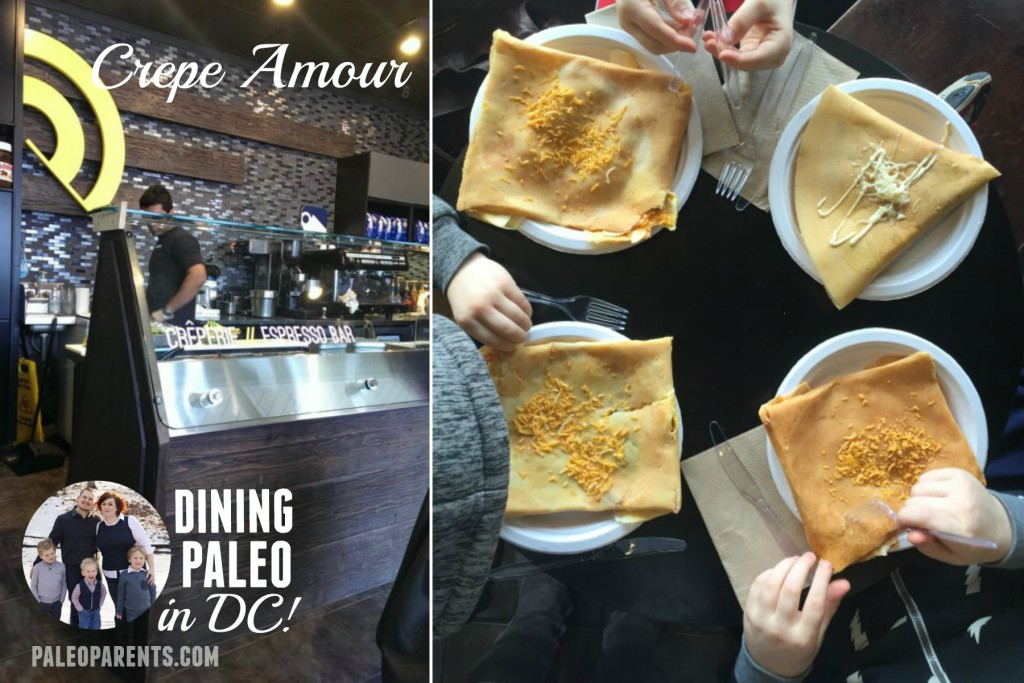 Dining Paleo in DC Crepe Amour Paleo Parents