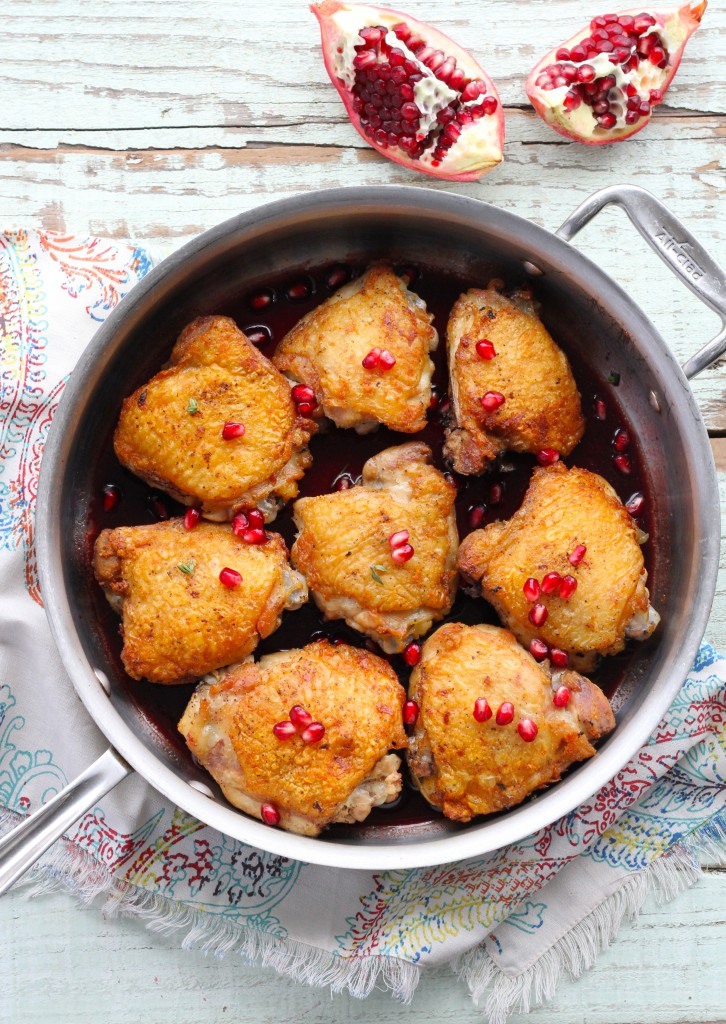crispy chicken thighs with pomegranate sauce, Brisket with Onions & Porcini Mushrooms Recipe, PLUS Our Meal Plan from The New Yiddish Kitchen!   Paleo Parents