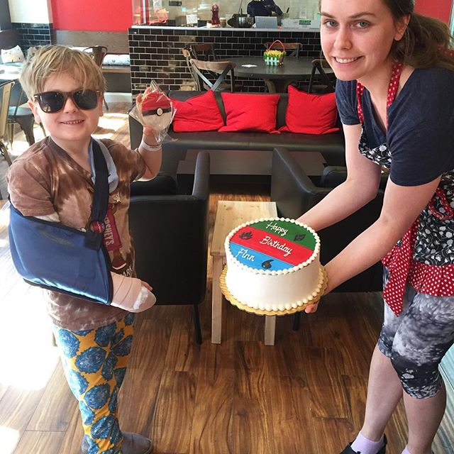 finn cast and cake, All about Paleo Marshmallows + Our First Broken Bone   Paleo Parents