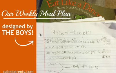 What We Ate: Our Weekly Meal Plan Designed By the Boys