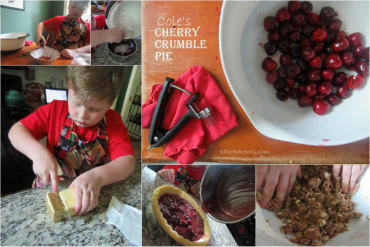 Cole's Cherry Crumble Pie on Paleo Parents