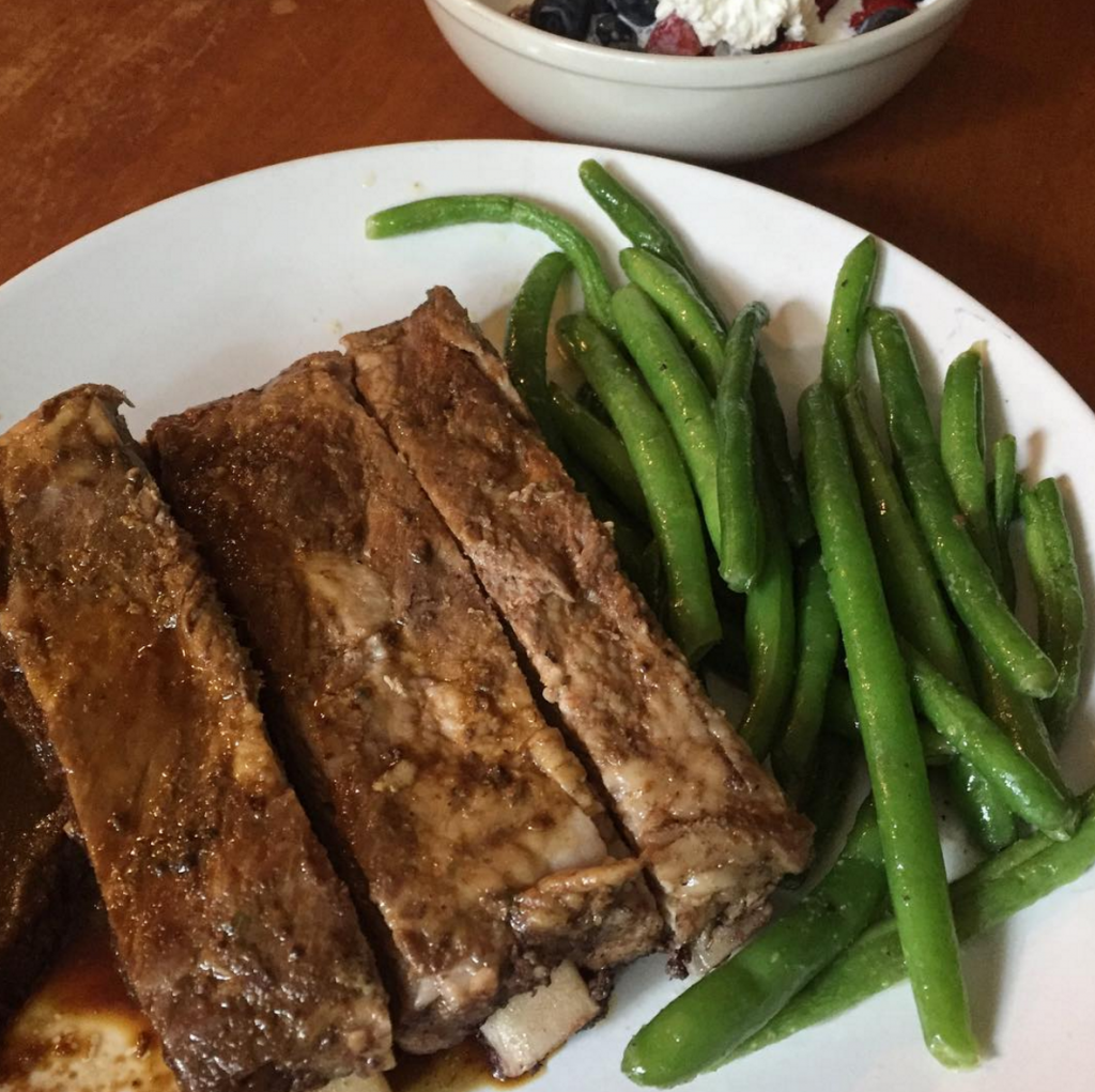 Ribs and green beans Paleo leftovers, Our Summer-Inspired Weekly Family Meal Plan | Paleo Parents