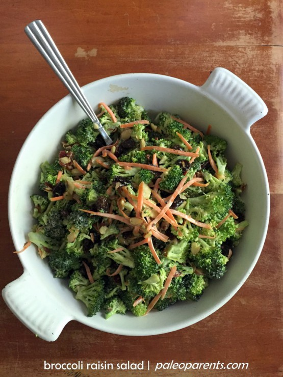 Broccoli Raisin Salad by Paleo Parents
