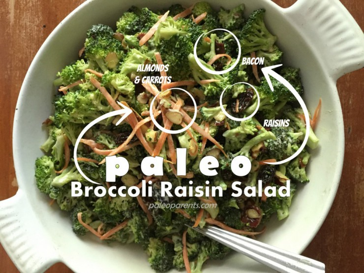 Broccoli Raisin Salad by PaleoParents