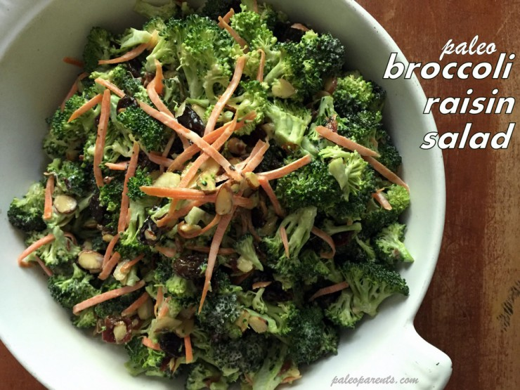 Broccoli Raisin Salad on PaleoParents