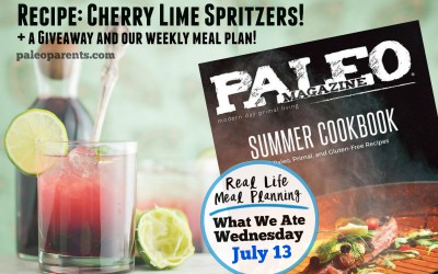 Cherry Lime Spritzers Recipe + Giveaway + Our Weekly Family Meal Plan