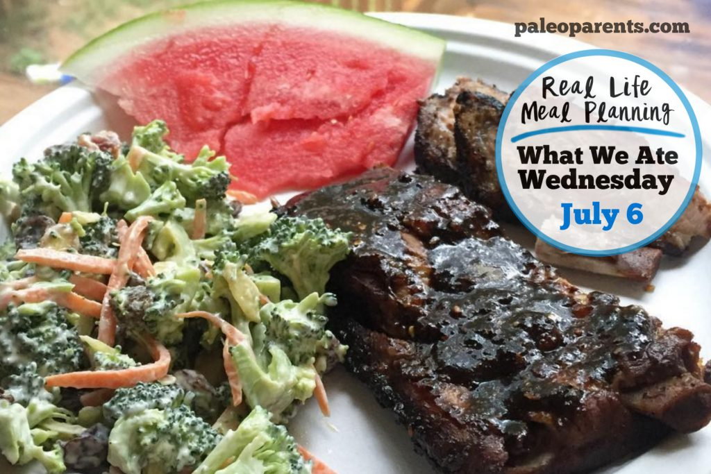 Meal Plan July 6 - Our Weekly Family Meal Plan - Fourth of July Weekend Eats! Paleo Parents