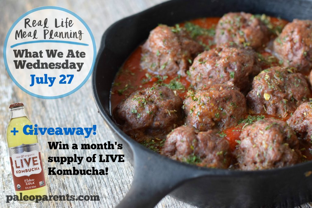 Eats from the Web: Our Weekly Family Meal Plan + LIVE Soda Kombucha Giveaway! Paleo Parents