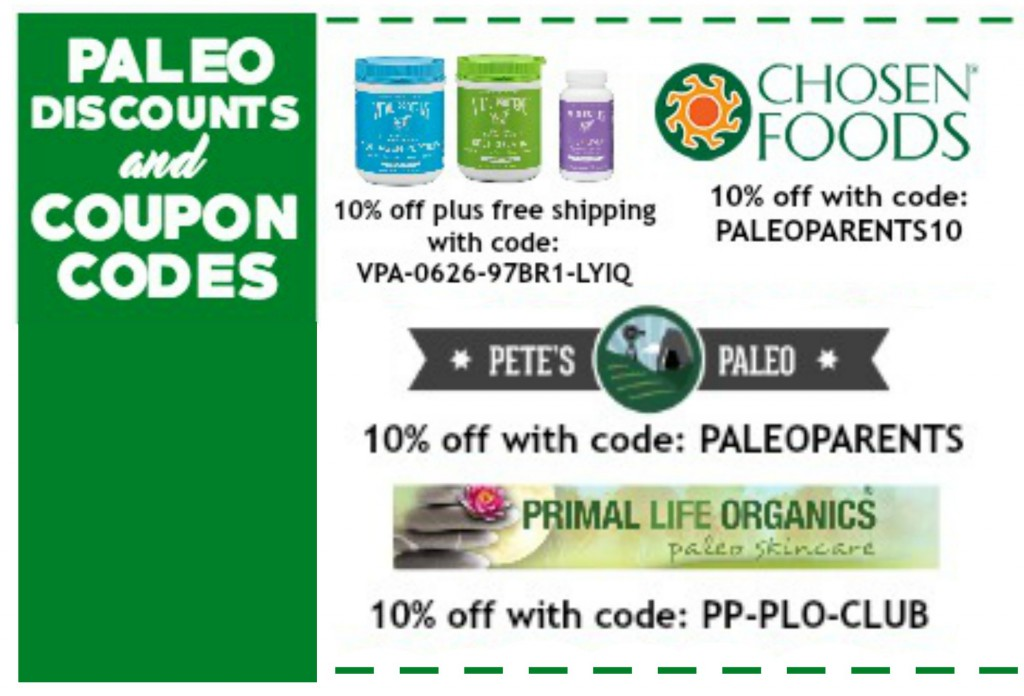 Paleo Discounts Coupon Codes Square 7.16
