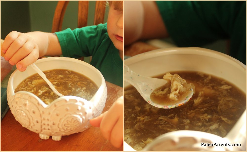 Egg-Drop-Soup, Paleo Parents: What We REALLY Eat: A look at our un-glamorous food!