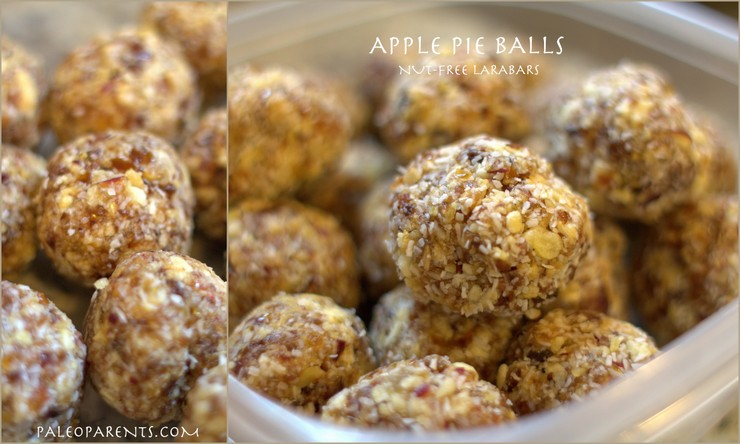 Apple Pie Balls by @PaleoParents. Paleo Parents Weekend Wrap Up 6.7: No Bake Treats And No Cook Eats For Warm Summer Days!