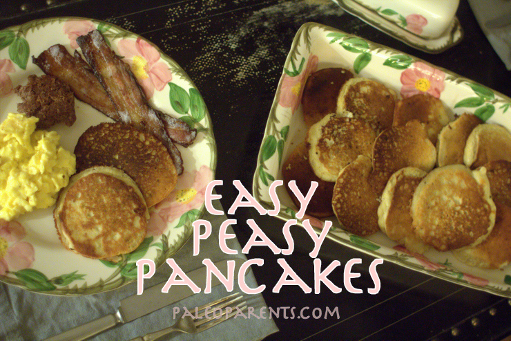 Easy Peasy Pancakes by @PaleoParents