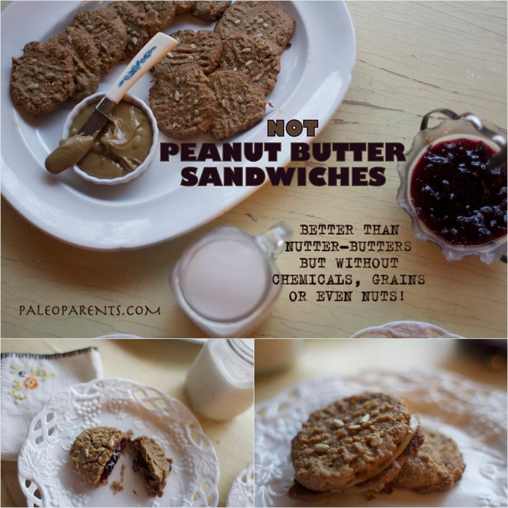 Not Peanut Butter Sandwhich Cookies by PaleoParents