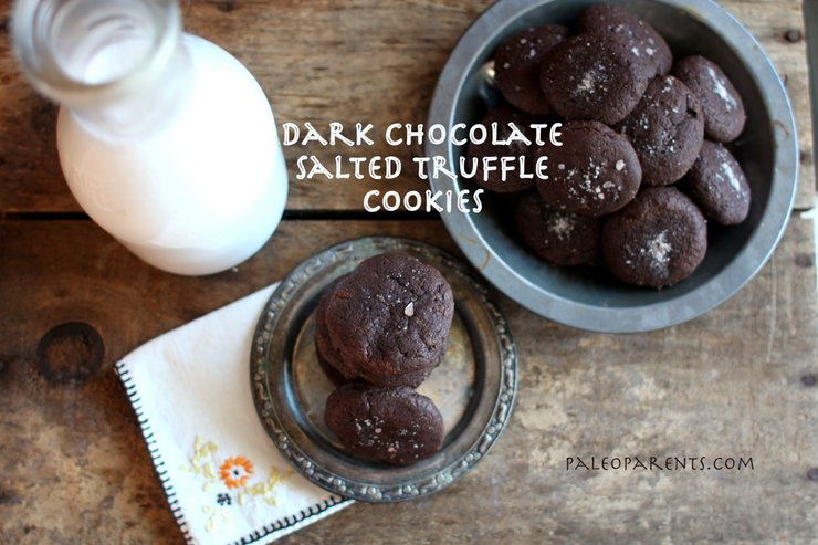 Dark Chocolate Salted Truffle Cookies by PaleoParents