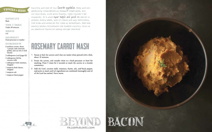 Rosemary Carrot Mash from Beyond Bacon by PaleoParents