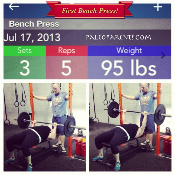 Stacy Bench Press at PaleoParents