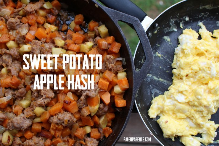 Sweet Potato Apple Hash by PaleoParents