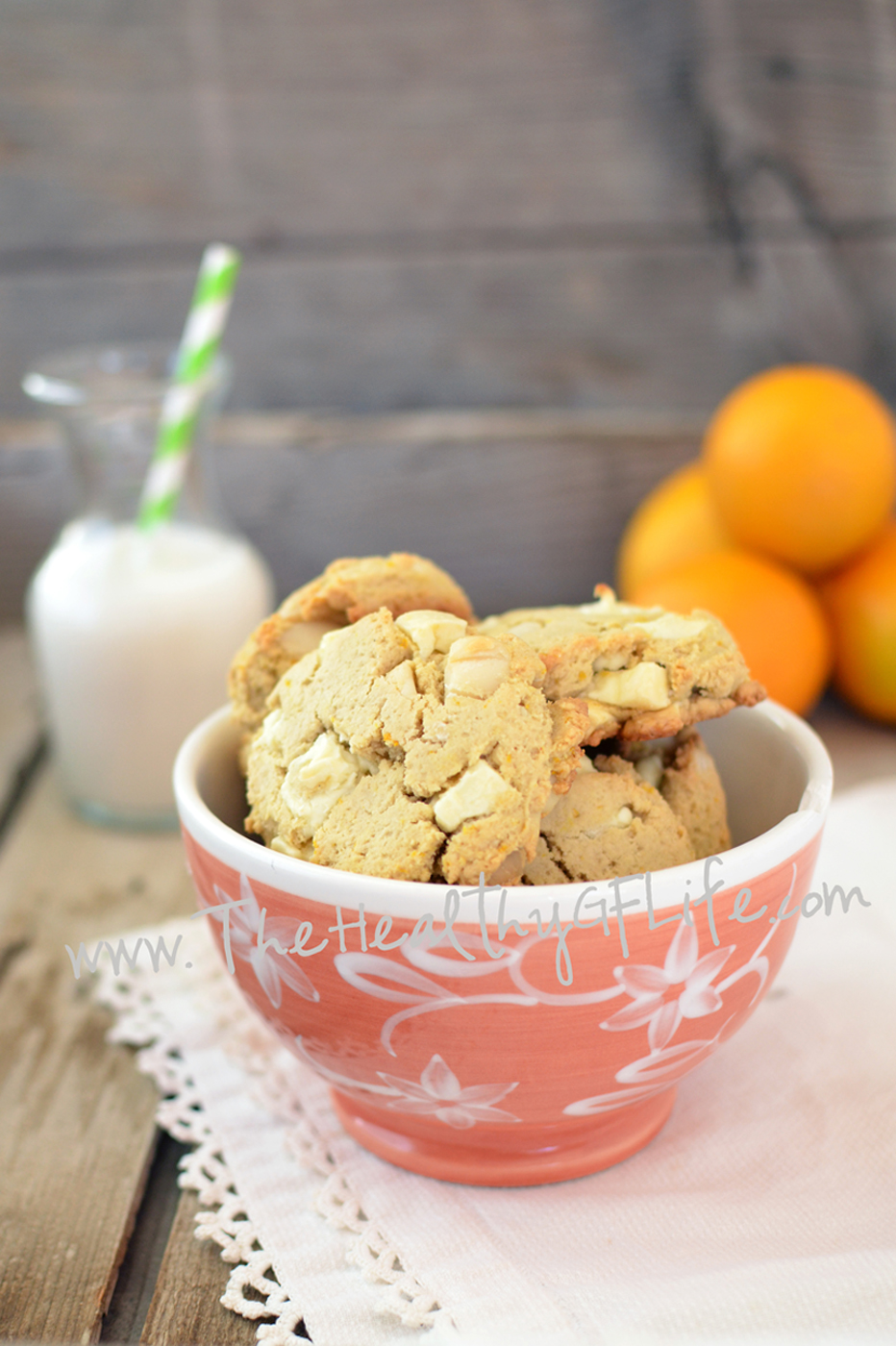 Orange White Chocolate Macadamia Cookies