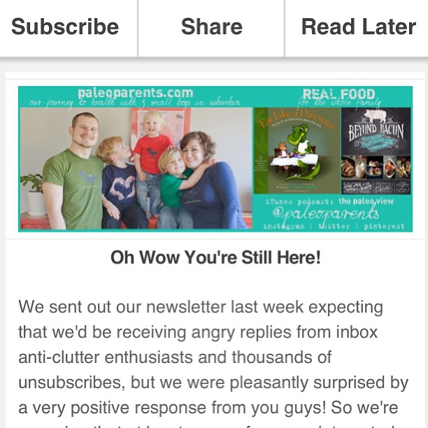 Paleo Parents Newsletter
