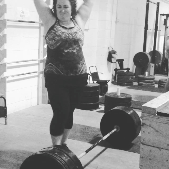 Deadlift PR Face by Stacy at PaleoParents