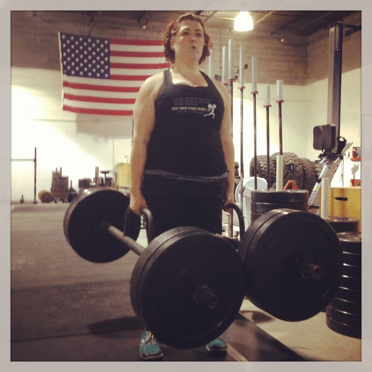 Stacy Strongwoman Farmer Hold at PaleoParents
