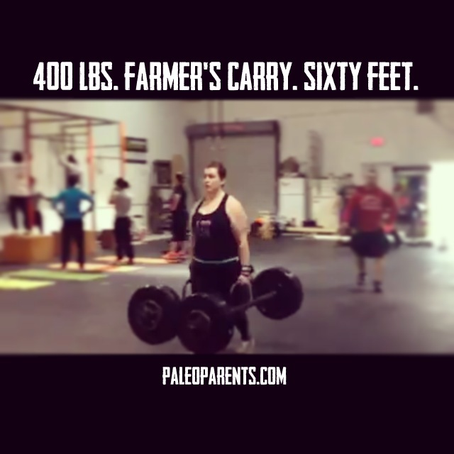 Farmer's Carry at 400lbs by Stacy on PaleoParents