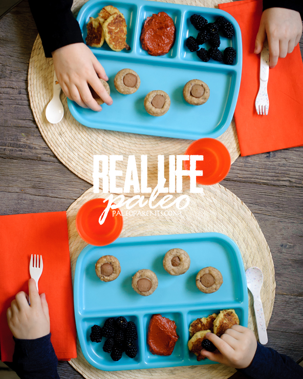 Mini Corn Dog Muffins and Cauli-Tots from Real Life Paleo, Lunch box ideas to start the school year off right! | Paleo Parents