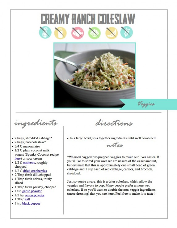 Creamy Ranch Coleslaw from Paleo To Go by Paleo Parents