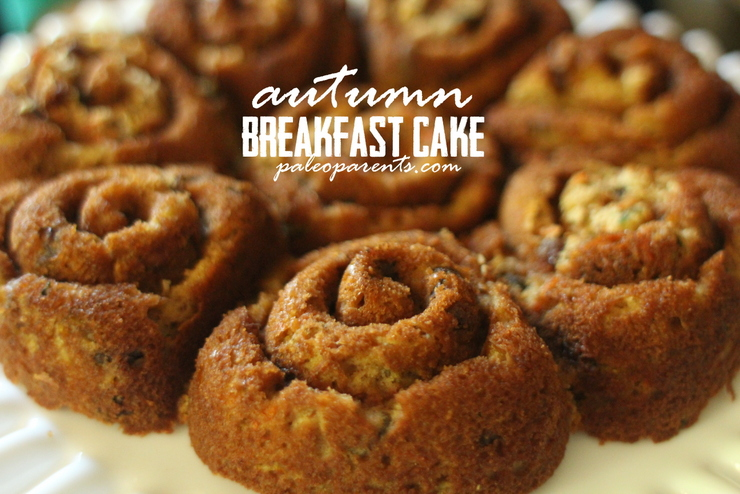 Autumn Breakfast Cake by Paleo Parents, Mommy date, The BEST Chocolate Chip Cookies, Board Games And All Things BOYS: Paleo Parents Weekend Wrap Up