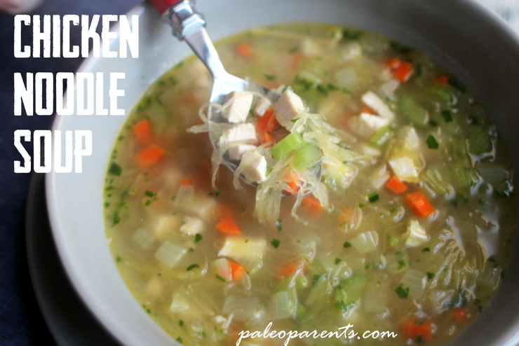 Chicken Noodle Soup on Paleo Parents