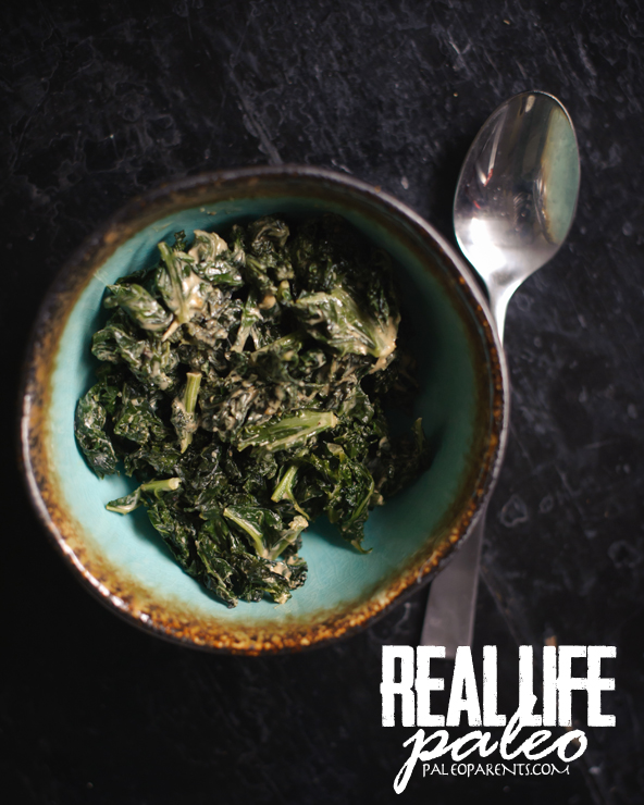 Creamed Kale from Real Life Paleo by Paleo Parents
