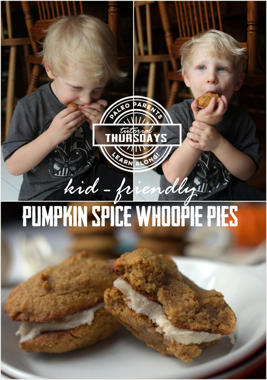 Pumpkin Spice Whoopie Pies for Tutorial Thursday by PaleoParents