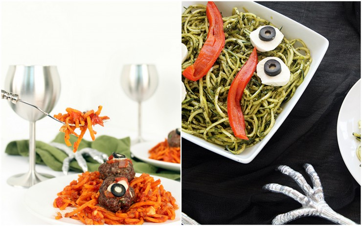 Spooky Inspiralized Recipes featured on PaleoParents