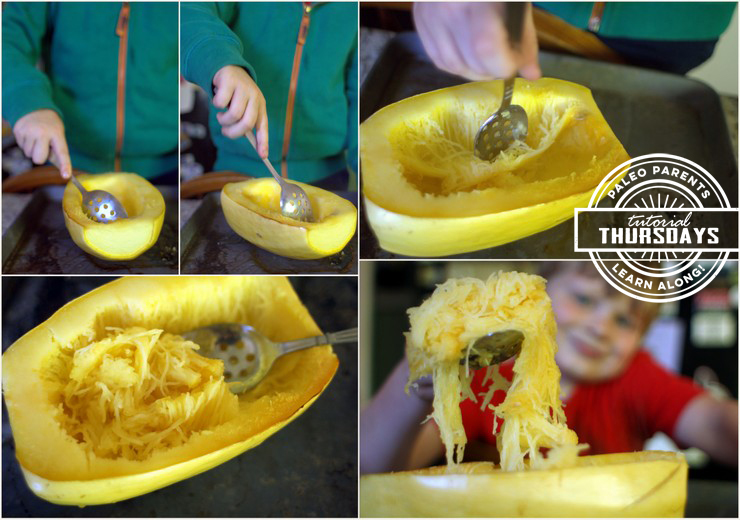 Tutorial Spaghetti Squash Step 4 by Paleo Parents