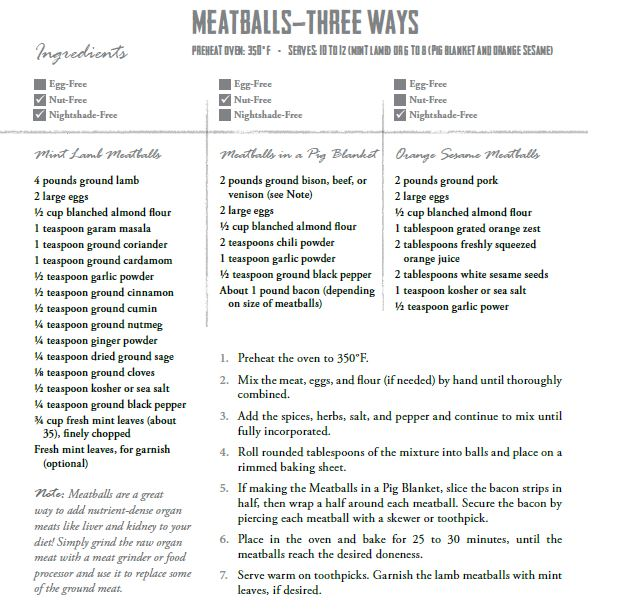 Meatballs Three Ways from Real Life Paleo by Paleo Parents
