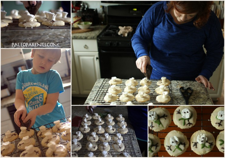 Making Melted Snowman Puddle Cookies on Paleo Parents