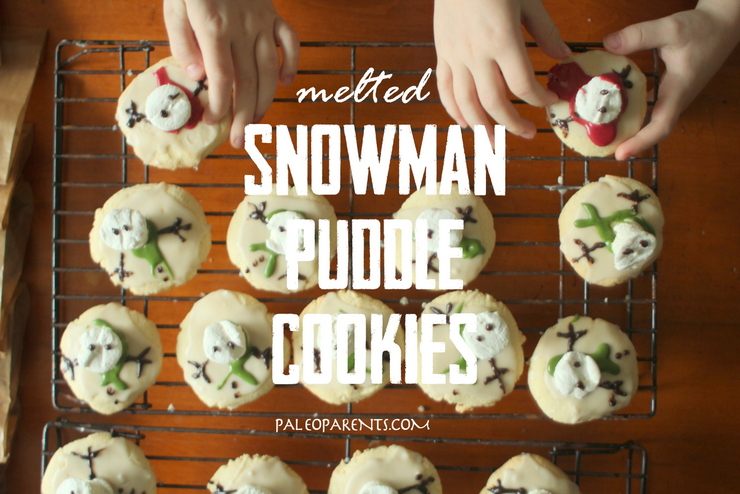 Melted Snowman Puddle Cookies by PaleoParents